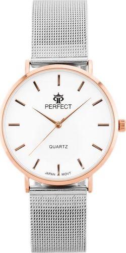 Zegarek Perfect PERFECT B7304 antyalergiczny (zp852c) silver/r.g. uniwersalny