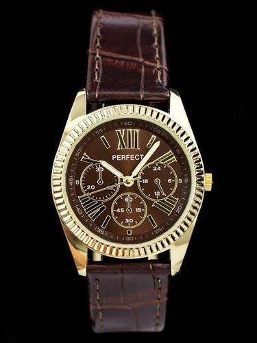 Zegarek Perfect PERFECT E621 - brown (zp755e) uniwersalny
