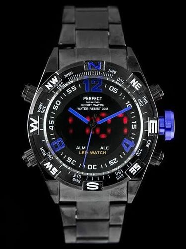 Zegarek Perfect PERFECT BLACK - LED (zp151a) uniwersalny