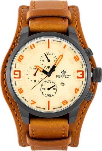 Zegarek Perfect PERFECT A177T - brązowy/złoty podkładka (zp251d) uniwersalny