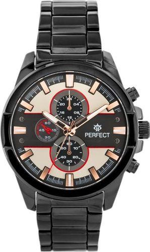 Zegarek Perfect PERFECT A0151 - czarny / grafitowo-beżowy (zp250e) uniwersalny