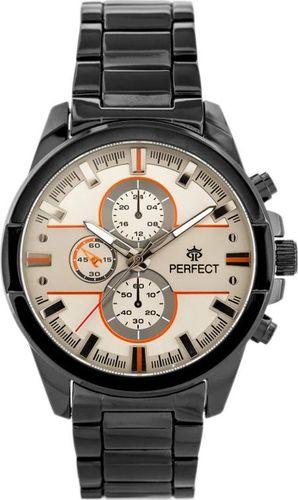 Zegarek Perfect PERFECT A0151 - czarny / beżowy (zp250d) uniwersalny