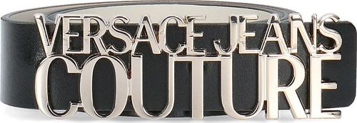 Versace Jeans Versace Jeans Couture Vitello Lettering - Pasek Damski - D8VUBF30 71168 899 80