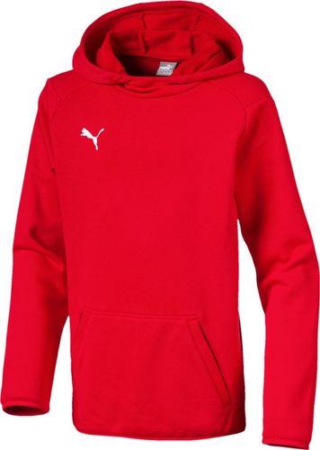 Puma Bluza dla chłopca Puma Liga Casuals Hoody Jr czerwona 655636 01 164cm