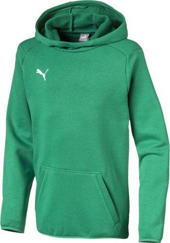Puma Bluza dla chłopca Puma Liga Casuals Hoody zielona 655636 05 116cm
