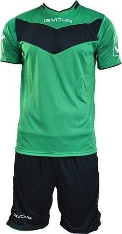 Givova Komplet Piłkarski Givova koszulka+spodenki Vittoria zielono-czarny XS