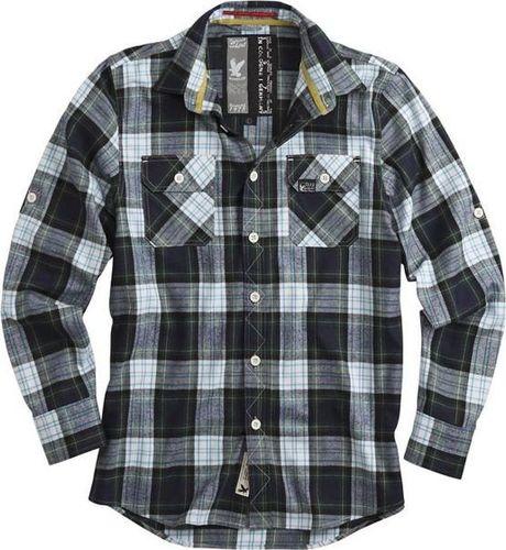 Surplus Surplus Koszula w Kratę Lumberjack Granatowa S