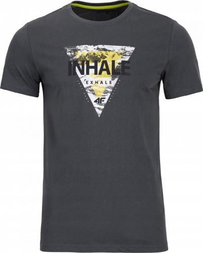 4f Koszulka męska H4Z19-TSM012 antracyt r. XL