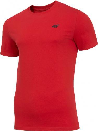 4f Koszulka męska H4Z19-TSM070 czerwona r. M