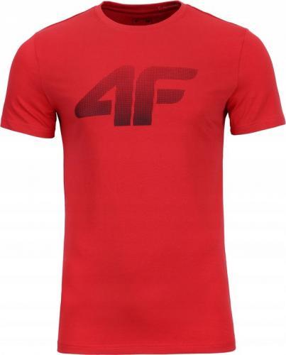 4f Koszulka męska H4Z19-TSM071 czerwona r. L