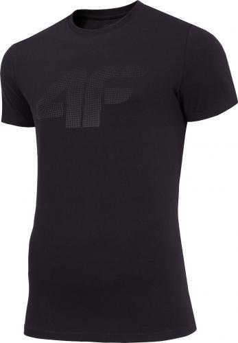 4f Koszulka męska H4Z19-TSM071 czarna r. L