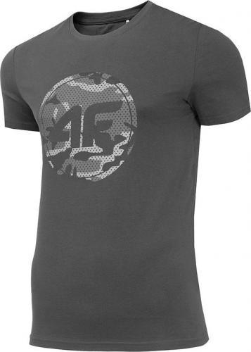4f Koszulka męska H4Z19-TSM076 szara r. L
