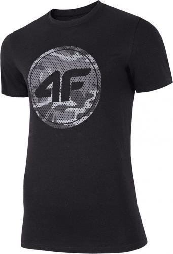 4f Koszulka męska H4Z19-TSM076 czarna r. XL