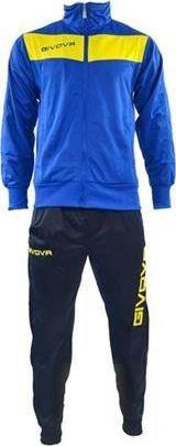 Givova Dres sportowy Visa Givova niebiesko-żółty 3XS