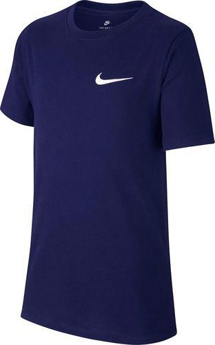 Nike Koszulka chłopięca B Tee Emb Swoosh Junior granatowa r. L (AR1910 478)