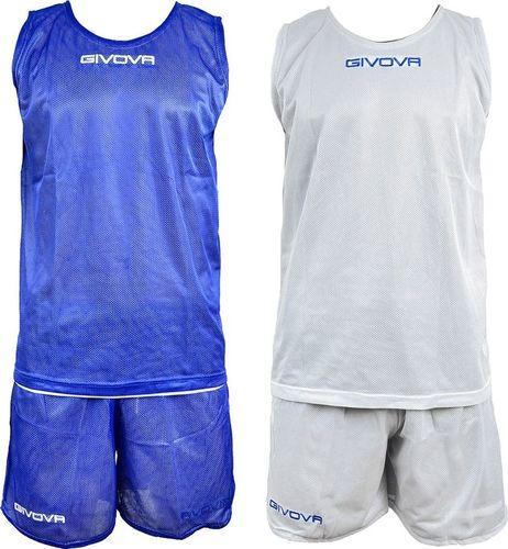 Givova Komplet Koszykarski Givova Double Niebiesko-Biały XL
