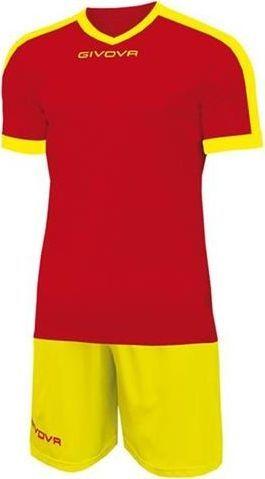 Givova Strój piłkarski Givova Revolution czerwono-żółty 2XS