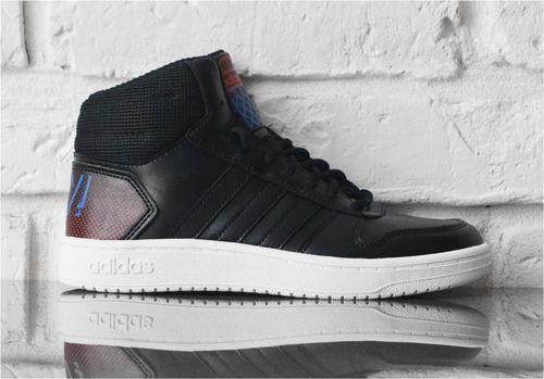 Adidas Buty dziecięce Hoops Mid 2.0 czarne r. 40 (EE8547)