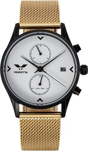 Zegarek Vendetta Zegarek damski Venice white/gold mesh VE1045 uniwersalny