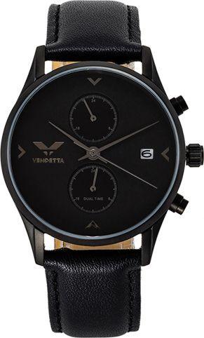 Zegarek Vendetta Zegarek damski Venice double black leather VE3008 uniwersalny