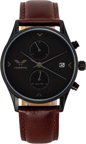 Zegarek Vendetta Zegarek damski Venice black/brown leather VE3009 uniwersalny