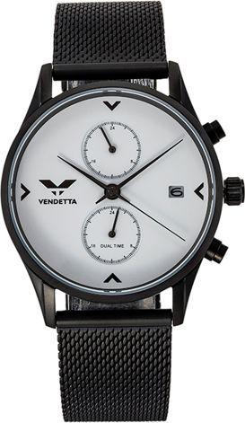Zegarek Vendetta Zegarek damski Venice white/black mesh VE1010 uniwersalny
