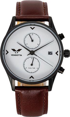 Zegarek Vendetta Zegarek damski Venice white/brown leather VE3002 uniwersalny