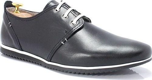 Kent KENT 209 CZARNE - Męskie wygodne buty ze skóry 40