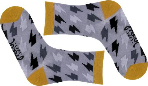 Freak Feet Młodzieżowe skarpety Freak Feet - JLPRN-GRY 32-36