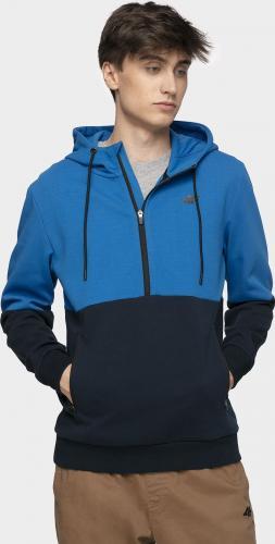 4f Bluza męska H4Z19-BLM004 niebieska r. XL