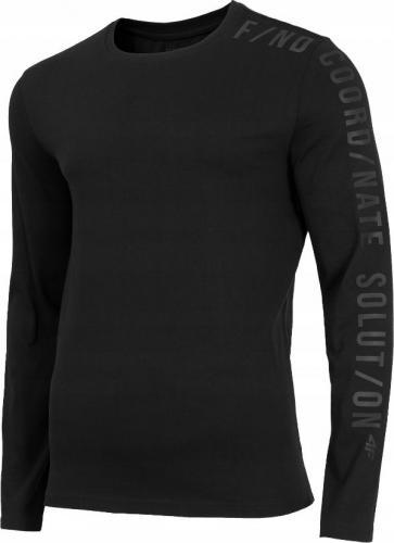 4f Koszulka męska H4Z19-TSML070 czarna r. M
