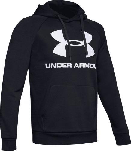 Under Armour Bluza męska Rival Fleece Sportstyle Logo Hoodie czarna r. L