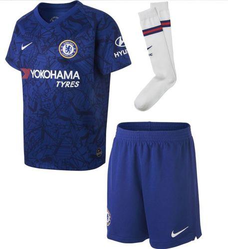 Nike Komplet Nike Chelsea LK BRT Kit Home AO3050 495 AO3050 495 niebieski L 116-122 cm