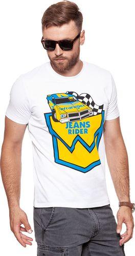 Wrangler Koszulka męska B&Y Crew Tee White r. S (W7C41FK12)