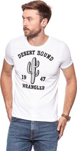 Wrangler Koszulka męska Desert Tee White r. XXL (W7C32FQ12)