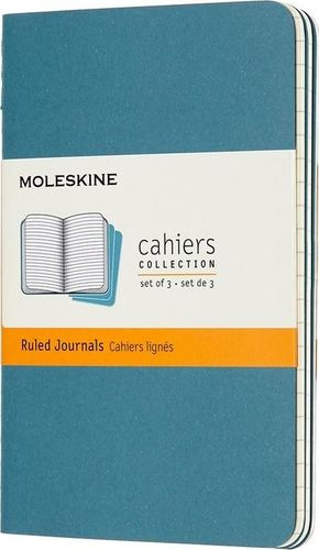 MOLESKINE Zestaw 3 zeszytów Cahier Journals  gładki niebieski