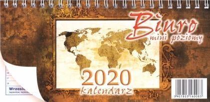Aniew Kalendarz 2020 Biurkowy poziomy Mini