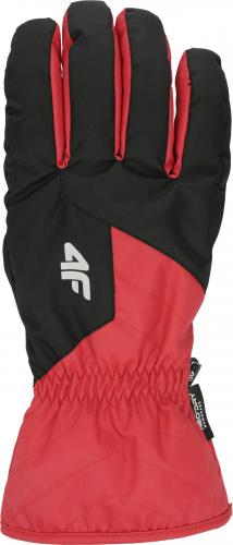 4f Rękawice męskie H4Z19-REM001 czerwone r. S