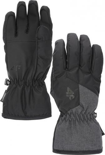 4f Rękawice męskie H4Z19-REM001 czarne r. XL