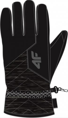 4f Rękawice męskie H4Z19-REM001 czarne r. L