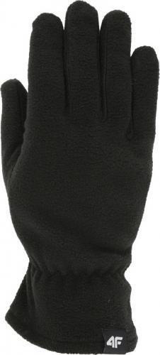 4f Rękawice unisex  H4Z19-REU001 czarne r. S