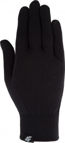 4f Rękawice unisex H4Z19-REU060 czarne r. L/XL