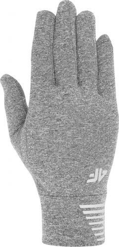 4f Rękawice unisex H4Z19-REU068 szare r. L