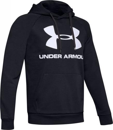 Under Armour Bluza męska Rival Fleece Sportstyle Logo Hoodie czarna r. S (1345628-001)