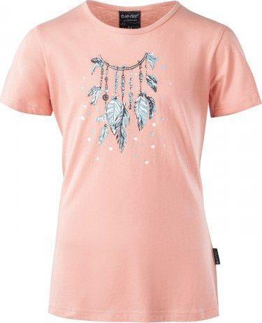 Hi-tec Koszulka dziecięca Paradia Jrg Peach Pink / Eggshell Blue r. 146