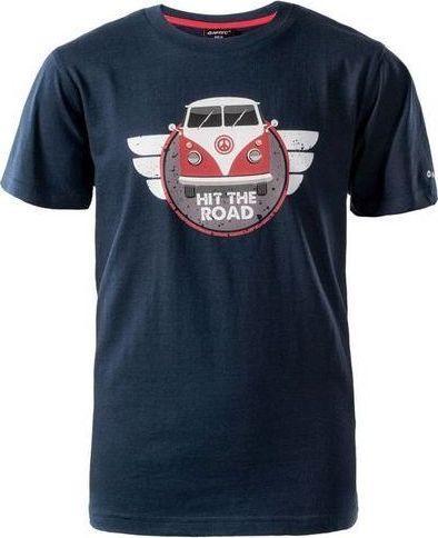 Hi-tec Koszulka dziecięca Road Jrb Dress Blues / High Risk Red r. 158