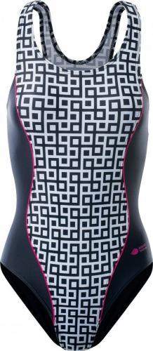 AQUAWAVE Strój kąpielowy Adelina Geometric Print/Black/Raspberyy Sorbet r. S