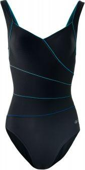 AQUAWAVE Strój kąpielowy Triesta Black/Blue Radiance r. L