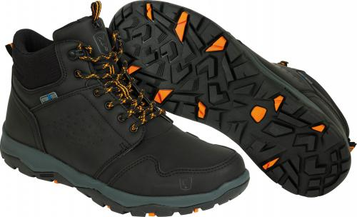 FOX Collection Black & Orange Mid Boots - roz. 44 (CFW107)