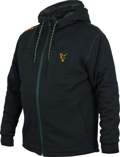 FOX Collection Sherpa Hoody Black/Orange - roz. M (CCL098)